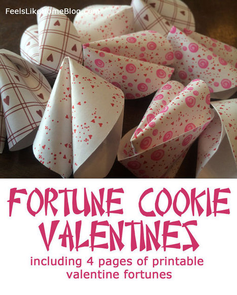 Fortune Cookie Valentines - Free Printable Valentine Fortunes | SMART TINKER SCOOPS FOR PARENTS | Scoop.it