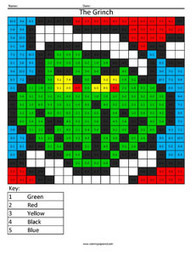 Grinch- Holiday Subtraction | Coloring Squared | Scoop.it