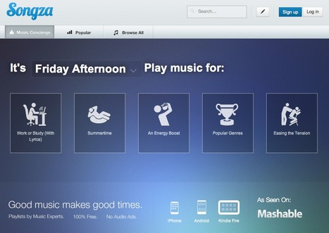 - Songza - For the Music you Want | iEduc | Scoop.it