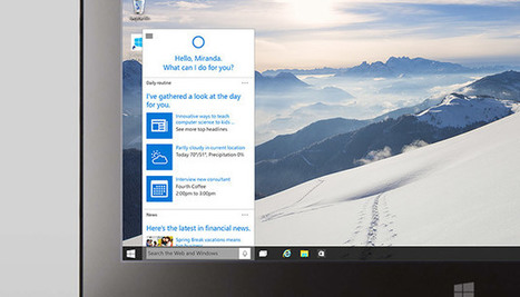 Microsoft's Cortana virtual assistant is coming to the PC with Windows 10 | Social Media | Scoop.it