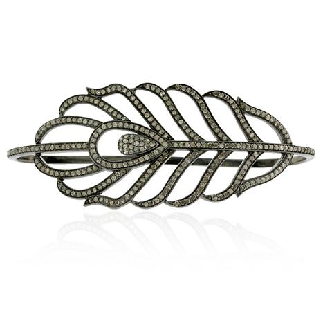 Pave Diamond Plume Palm Bracelet | Diamond Jewelry | GemcoDesigns | Pave Diamond Palm Bracelets | Diamond Jewelry | GemcoDesigns | Scoop.it