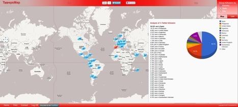 Tweepsmap – visualiza en un mapa la procedencia de tus seguidores en Twitter | Recull diari | Scoop.it