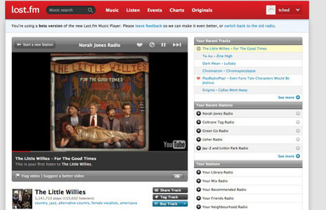Last.fm's free radio service now pulls music from YouTube | Music Industry | Scoop.it