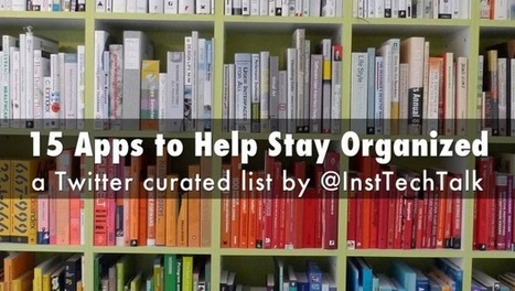 15 Apps to Help You Stay Organized | Linguagem Virtual | Scoop.it