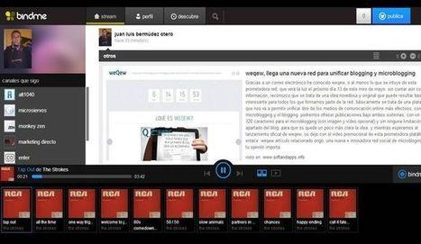 Bindme, red de curación de contenidos ahora con música en streaming | El Content Curator Semanal | Scoop.it