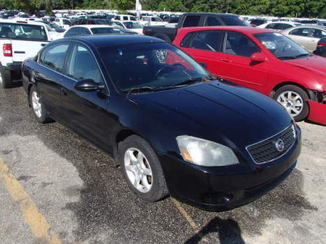 Salvage 2006 black Nissan Altima S/s with VIN 1N4AL11D56C172010 on auction   cars   Scoop.it