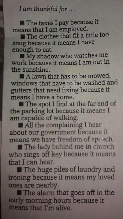 Be Thankful - It's ALL about the Perspective | Heart_Matters | Scoop.it