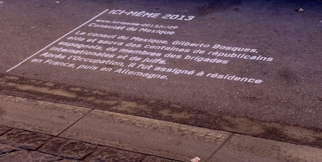 Ici même : 51 lieux de mémoire marqués au sol. MP 2013 | Ta famille ou la mienne ? | Scoop.it