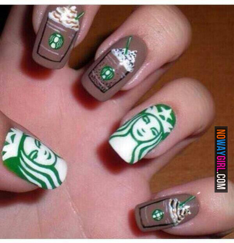 You Might Be Addicted To Starbucks If Your Nails Look Like This - NoWayGirl | World Fashion Styles | Scoop.it