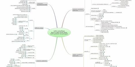 Veille scientifique et web 2.0 : une carte mentale | Cartographie de la pensée | Scoop.it