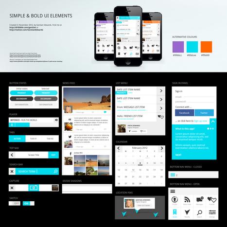 Dribbble - SimpleBoldUIElements.jpg by Gentian Edwards | Interesting Web | Scoop.it