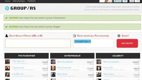 group.as – Los usuarios de google+ clasificados en grupos | Aplicaciones y Herramientas . Software de Diseño | Scoop.it