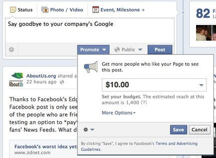Facebook Will Take Your Money to Game Their EdgeRank Algorithm | ten Hagen on Social Media | Scoop.it