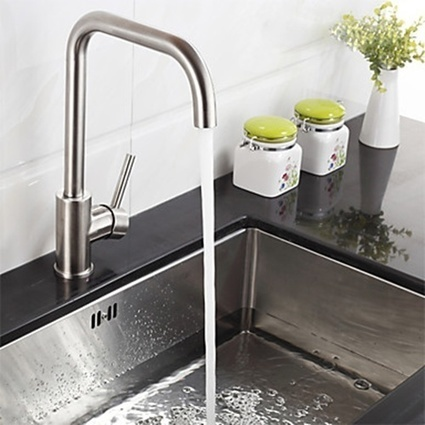 Stainless Steel Deck Mounted Single Handle One Hole Kitchen Faucet -- Faucetsmall.com | Bathroom Sink Faucets & Kitchen Faucets | Scoop.it
