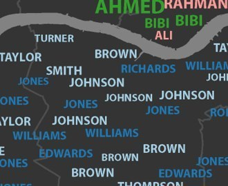 Beneath Every City Is A Labyrinth of Last Names | visual data | Scoop.it