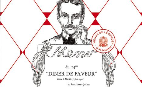 Cinq chefs revisitent un dîner historique pour la maison G.H.MUMM   Food & chefs   Scoop.it