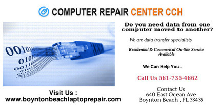 Do you need a data from your broken laptop or PC? Here you are | Computer Repair Boynton Beach | Scoop.it