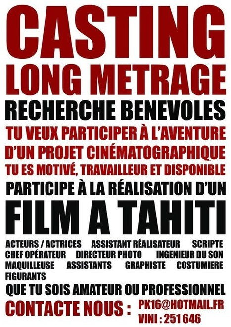 MOVIE MAKING, ANYONE? | TAHITI Le Mag | Scoop.it