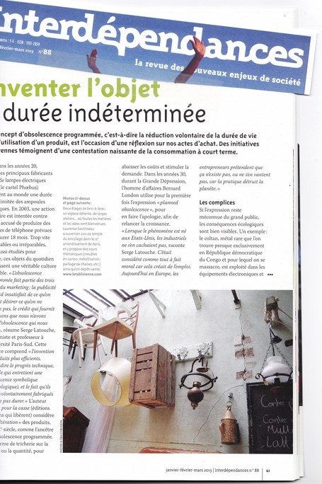Interdépendance N°88, janvier-février-mars 2013 | Just Do It Yourself | Scoop.it