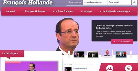 Le site internet de François Hollande fait peau neuve | Hollande 2012 | Scoop.it