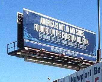 Atheist billboard refutes notion U.S. founded on Christian religion | Atheism Today | Scoop.it