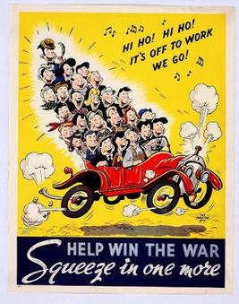 En Imágenes: 10 curiosos pósters de la II Guerra Mundial para compartir el auto | Era del conocimiento | Scoop.it