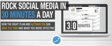 How To Manage All Your Social Media In 30 Minutes A Day (Infographic) | Digital-News on Scoop.it today | Scoop.it
