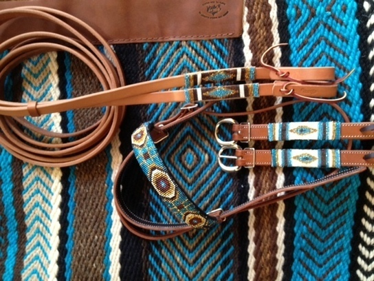 Anazazi Stars : Custom Blanket and Beadwork | The Brown Cow Saddle Blanket Company