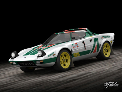 Lancia Stratos HF : voiture 3D | 3D Library | Scoop.it