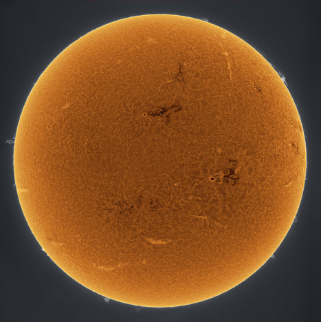 Orange Sun Scintillating | Astronomy Domain | Scoop.it