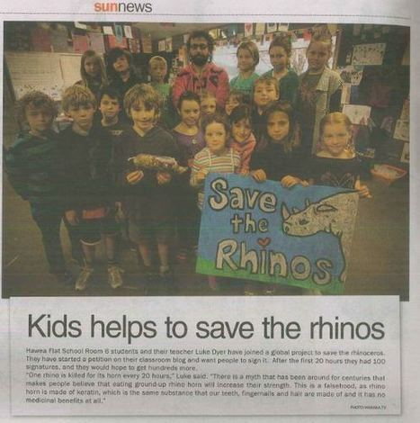 Connecting Globally from a Remote School - Travelling Rhino Project   Connect All Schools   Scoop.it