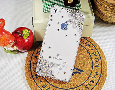 iphone 5 case- iphone 4 case- iphone 4s case Crystal Back Case Cover Gift for Her | bling iphone case | Scoop.it