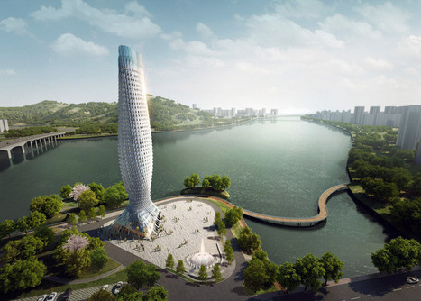 Fish-inspired skyscraper by RMJM for Doumen, China | sustainable architecture | Scoop.it