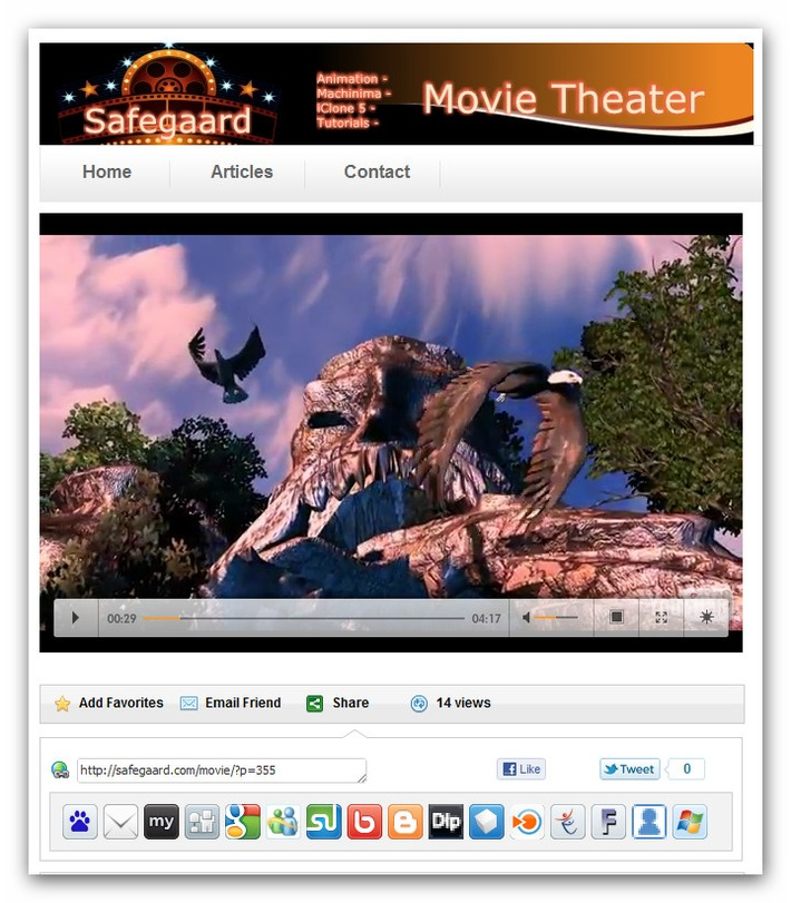 iClone 5 Legend of the Big Stone Head.mov « Safegaard.com – Movie Theater | Machinimania | Scoop.it