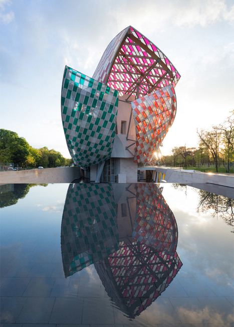 [Aïe - Aïe] Daniel Buren colours sails of Gehry's Fondation Louis Vuitton | The Architecture of the City | Scoop.it