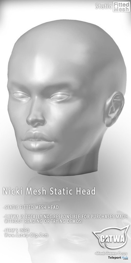 Nicki Static Mesh Head 100L Promo by Catwa | Teleport Hub - Second Life Freebies | Second Life Freebies | Scoop.it