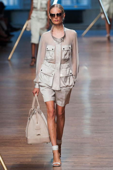 Jason Wu RTW Spring 2014: Sheer and Shimmering Champagnes | Fashion News by JustLuxe | Trendy sunglasses | Scoop.it