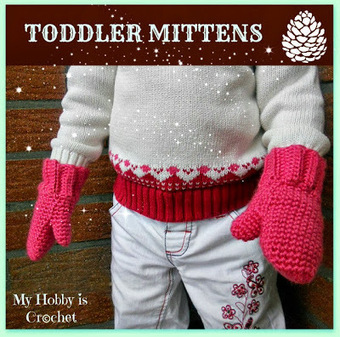 My Hobby Is Crochet: Crochet toddler mittens Ceyla- Free pattern and tutorial | crochet mittens | Scoop.it