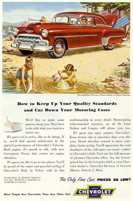 1952 Chevy ad The Fifties | A Cultural History of Advertising | Scoop.it