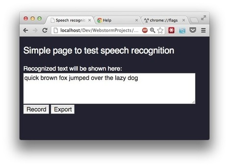 Record audio using webrtc in chrome and speech recognition with websockets | nodeJS and Web APIs | Scoop.it