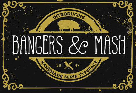 Bangers and Mash font a quirky handmade serif | My Typefaces | Scoop.it