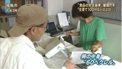 [Eng] 60 Becquerels / kg de césium dans des oeufs à Fukushima (+vidéo)   EX-SKF   Japon : séisme, tsunami & conséquences   Scoop.it