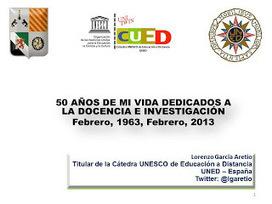 García Aretio: Estos reconocimientos me animan a seguir. ¡MUCHAS GRACIAS! | Educación a Distancia y TIC | Scoop.it