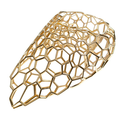 Zaha Hadid creates rings from gold lattices for Caspita | Rhino'school Italy, la scuola italiana di Rhino 3d | Scoop.it