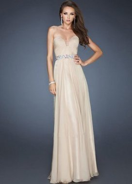 Nude Strapless Colorful Sequin Waist Long Prom Gown [Nude Straples Long Prom Gown] - $190.00 : www.2014dresstrends.com | long prom dresses | Scoop.it