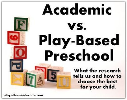 Academic vs. Play Based Preschool - What Reasearch Tells Us | Play Based Learning | Scoop.it