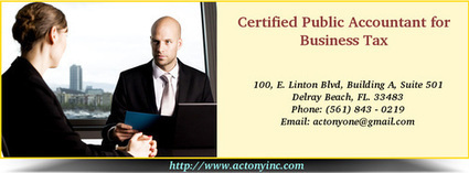 Certified Public Accountant for Business Tax | CPA and Tax Consulting | Scoop.it