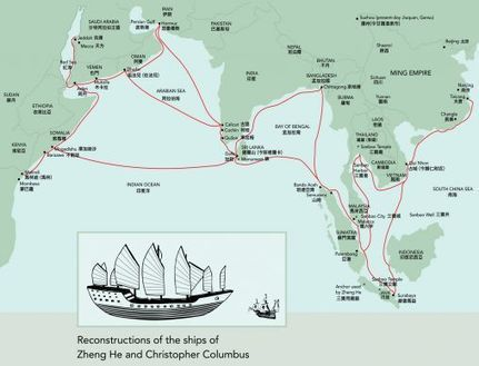 Voyages of the Ming Dynasty (1368–1644) Treasure Fleet   Year 4 History: First Contacts - Zheng He   Scoop.it