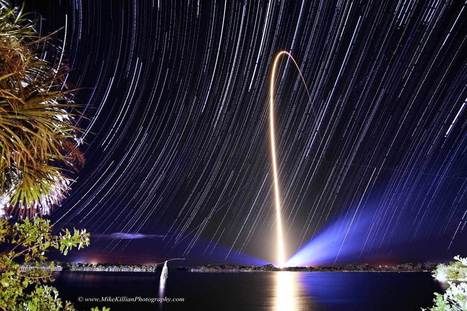Stunning Astrophoto Captures Awe Inspiring NASA Rocket Launch Amidst Star Trails | enjoy yourself | Scoop.it
