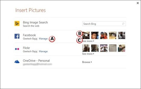 PowerPoint 2013 Tutorials - Insert Picture from Facebook | PowerPoint Tutorials | Scoop.it